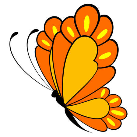 beautiful butterfly for a design Vector