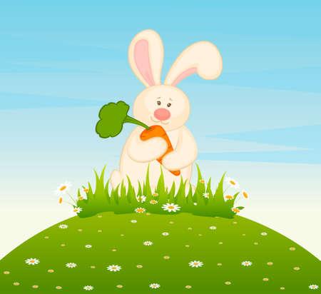 cartoon little toy bunny photo