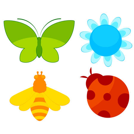 childs icons for a design on a white background Vector