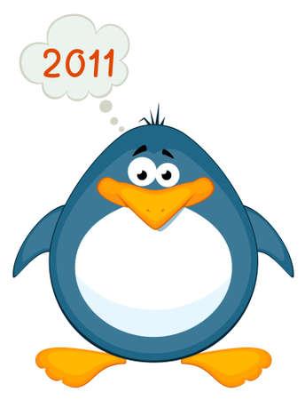 cartoon penguin:  cartoon penguin Stock Photo