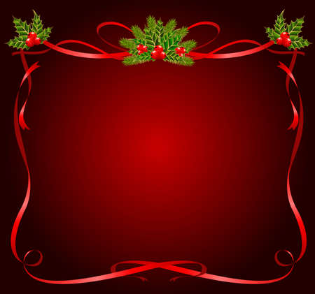 christmas frame from ribbons photo