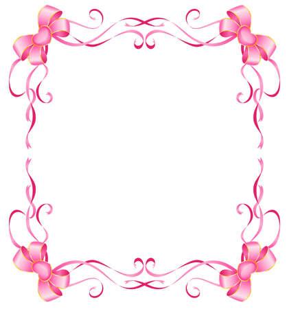 lazo rosa: arco de Navidad rosa sobre un fondo blanco