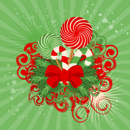candycane: Christmas candy cane decorated Stock Photo