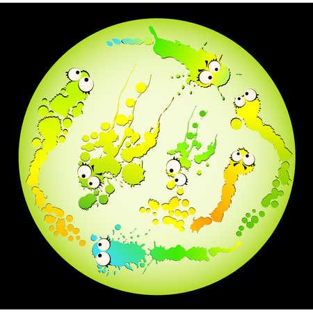 cartoon bacteria: virus and germs