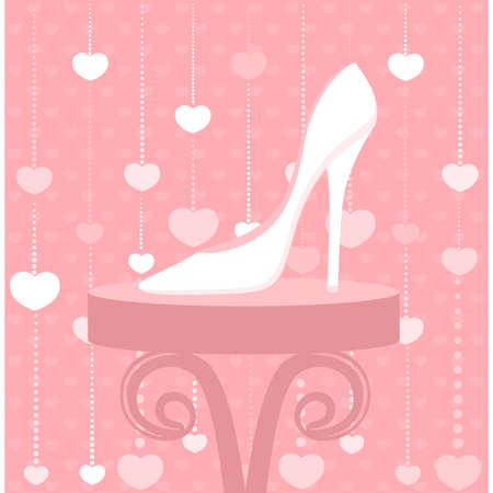 venta de calzado de moda en la ventana de la tienda Ilustración de vector