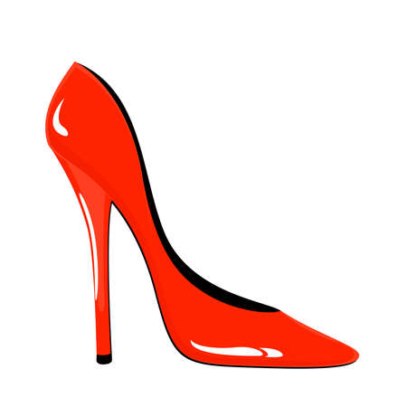 Beautiful female sexy shoes against for design Stock Vector - 8565270