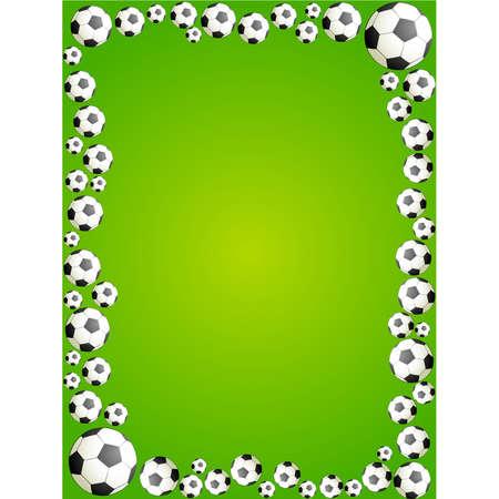 soccerball: Football on a green grass