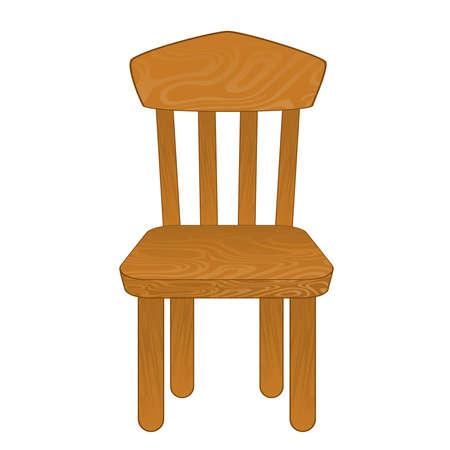 chair vector: Sedia isolata. Illustrazione vettoriale Vettoriali