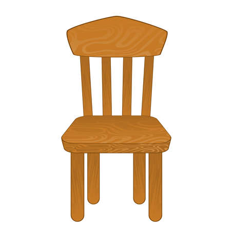 wood chair: Silla aislado. Ilustraci�n vectorial