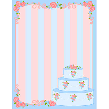 Vector valentine`s day frame with sweet cupcake for design Stock Vector - 8473151
