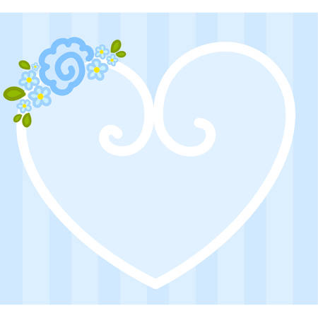 Vector valentine`s day heart with flowers for design Stock Vector - 8472979