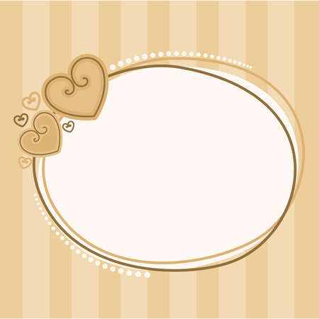 valentine`s day frame with hearts for design Vector