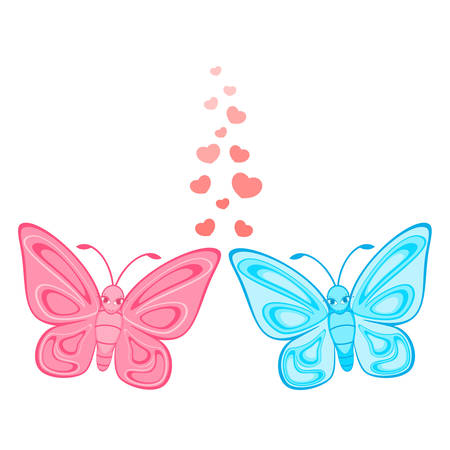 Beautiful butterfly on a white background Stock Vector - 8470339