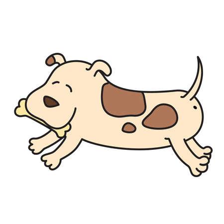 tenderly: illustration of cartoon dog Illustration