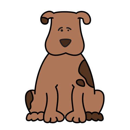 illustration of cartoon dog Vector
