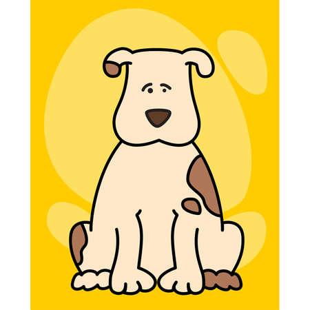 piebald: illustration of cartoon dog Illustration
