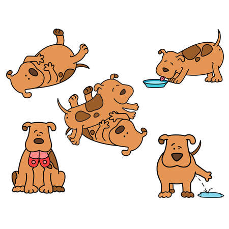 tenderly: Set of cartoon dogs Illustration