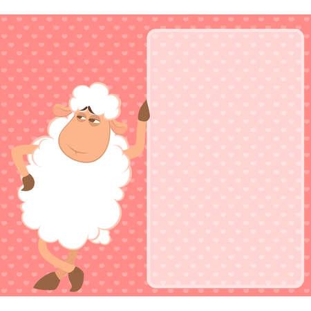 cartoon funny sheep Vector