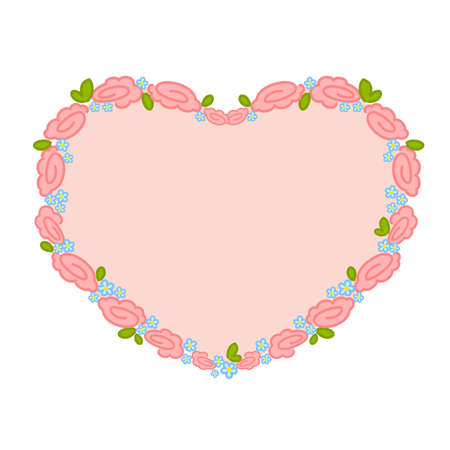 valentine`s day heart with flowers for design Vector