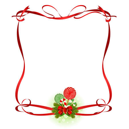 canes: Christmas frame with candy cane decorated.