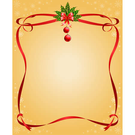 boll: Vector christmas frame from ribbons