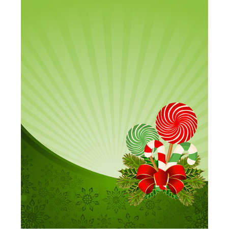 Christmas frame with candy cane decorated Stock Vector - 8507261