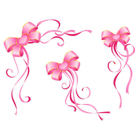 pink bow: christmas pink bow on a white background
