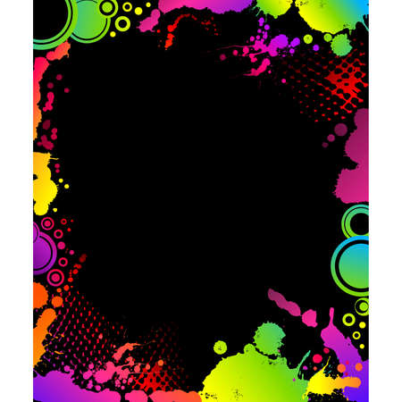 grunge abstract background with blots Vector