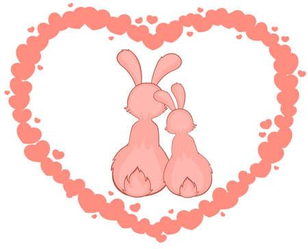 cartoon little toy rabbits photo
