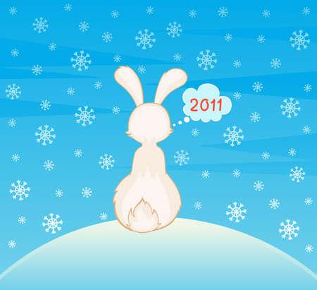 cartoon little toy rabbit photo