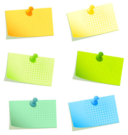 sticky papers set 2 Stock Photo - 8607532