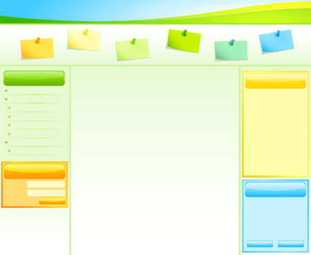 net bar: Website design template, menu with papers Stock Photo