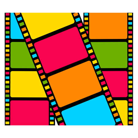 Blank film colorful strip Vector