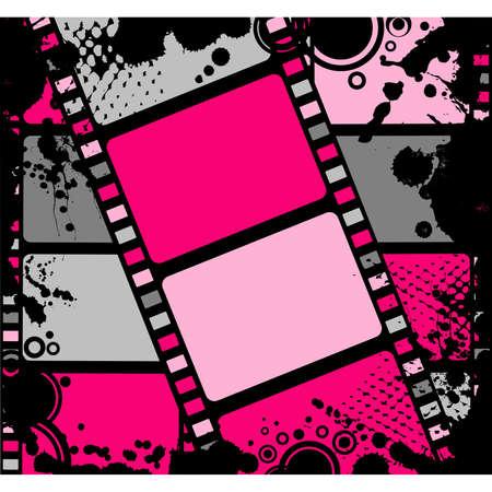 filmroll: Blank film colorful strip Illustration