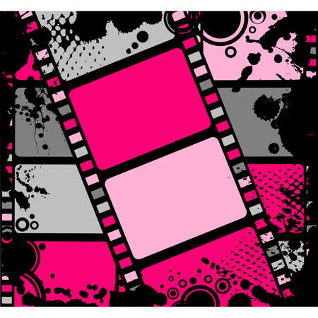 Franja de coloridos de película en blanco