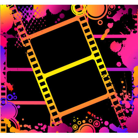 Blank film colorful strip Иллюстрация