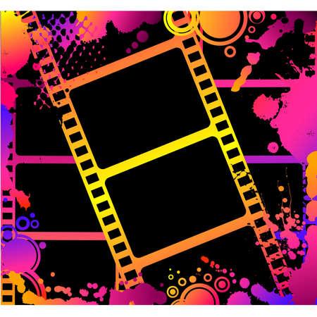 cinematography: Blank film colorful strip Illustration