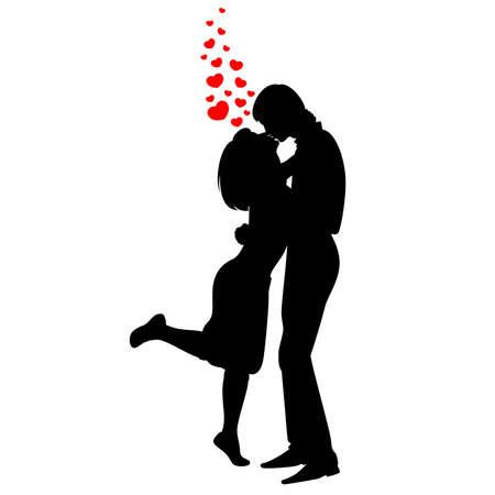 silhouette di amanti