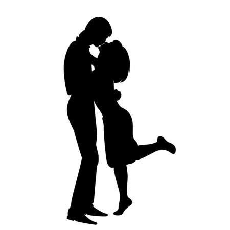 pairs: silhouette of lovers