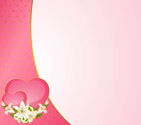 fiance: Wedding background card - invitation with hearts and flowers Stock Photo