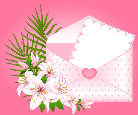 Wedding background card - invitation with flowers photo