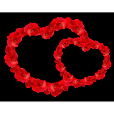 Red rose heart Stock Vector - 9089917