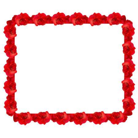 red rose border: Red rose frame Illustration