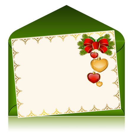 Christmas celebratory envelope Stock Vector - 9089567