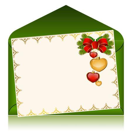 envelope decoration: Christmas celebratory envelope