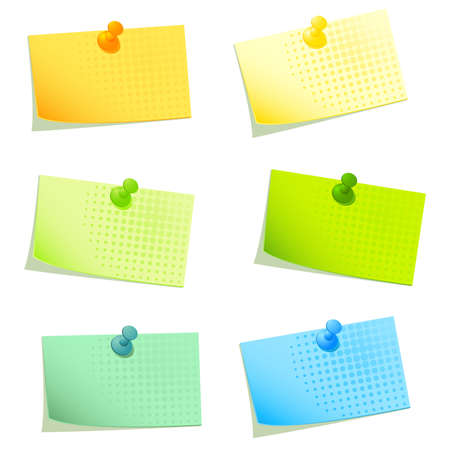 notepaper: sticky papers set 2