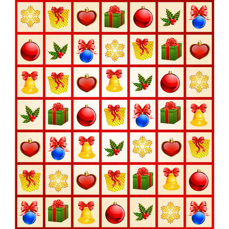 boll: christmas background with gifts Illustration