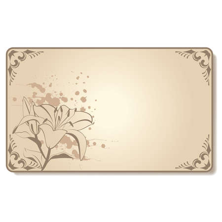 lilly: abstract visiting-card with beautiful flowers