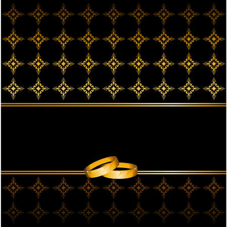 golden ring: two wedding rings on a background Illustration