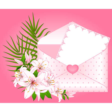 Wedding background card - invitation with flowers Vector